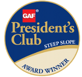 Kansas City Roofing Company Awarded Steep Slope Presidents Club Award by GAF