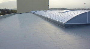 Newly Installed Commercial Flat EPDM Roof
