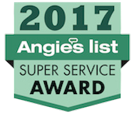 Christian Brothers Roofing 2017 Angies List Super Service Award Badge