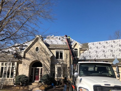 GAF underlayment installed