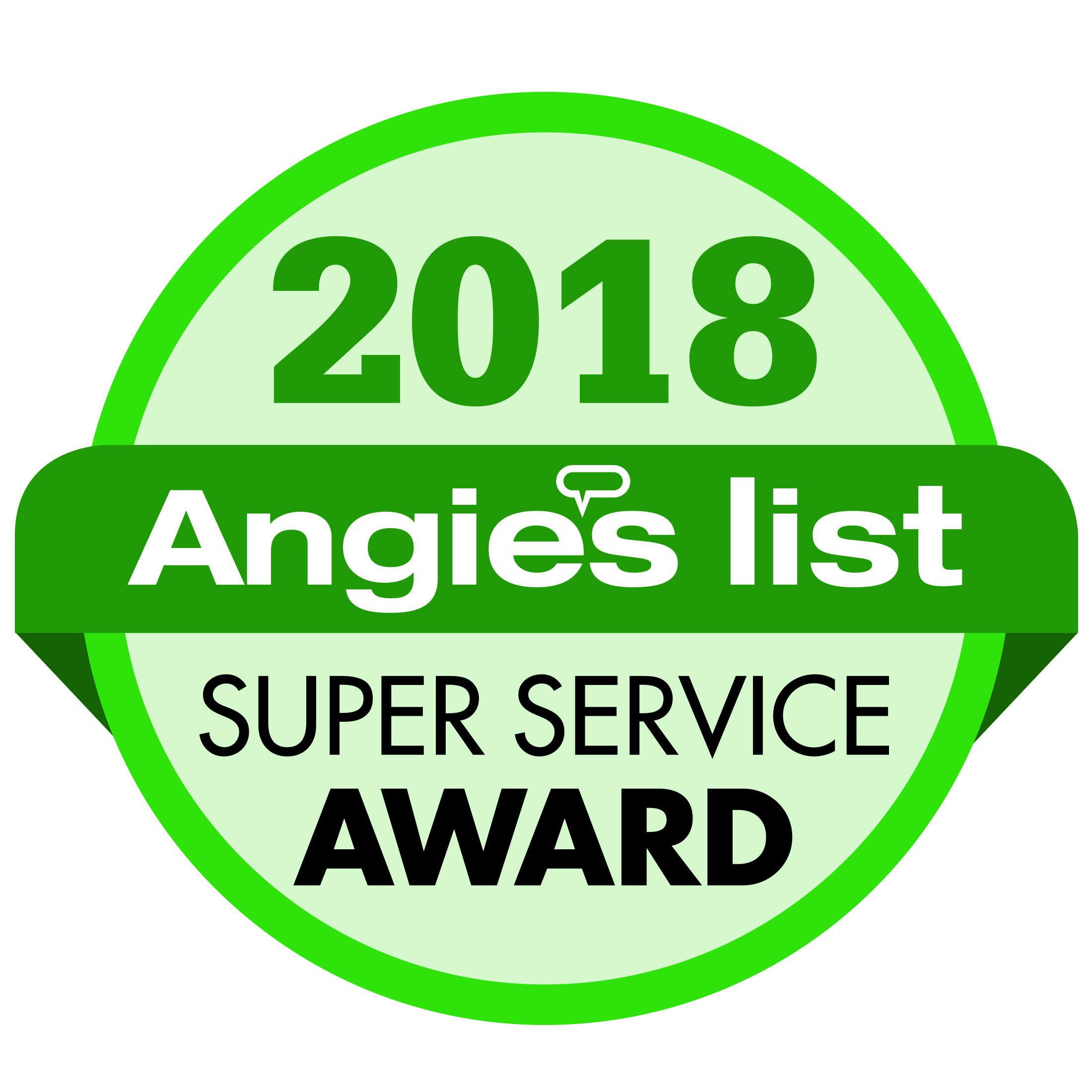 Angies List Super Service Seal 2018