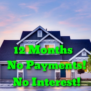 12 months no payments, no interest