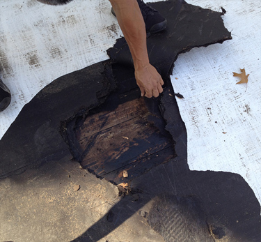 Commercial Roof Repair Before