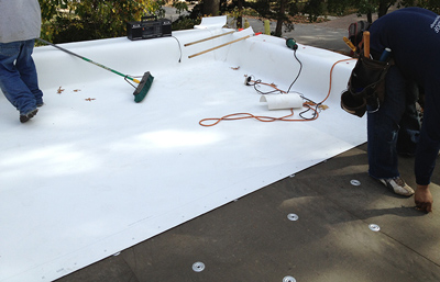 Flat Roofing Process
