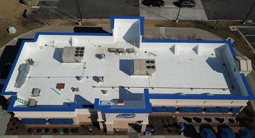 GAF TPO roofing on Culver's Restaurant